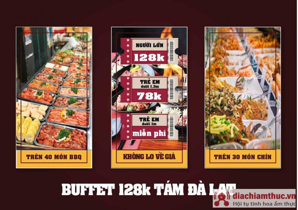 Quán Buffet Tám ở Đà Lạt