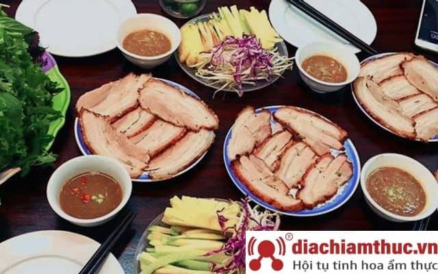 Bánh tráng cuốn thịt heo Hoàng Bèo Habini Hà Nội