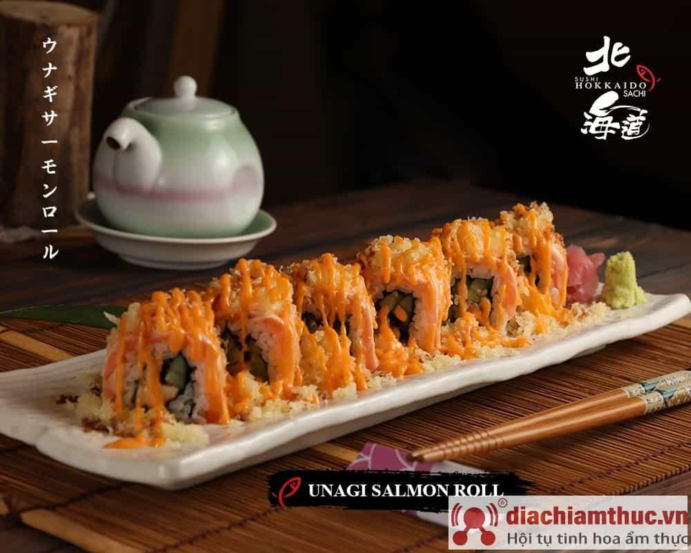 Unagi salmon roll