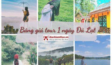 Bàng giá tour Đà Lạt 1 ngày
