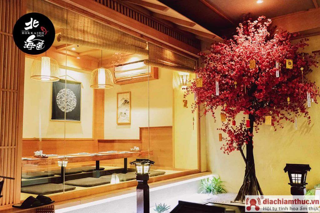 Không gian quán hokkaido sushi