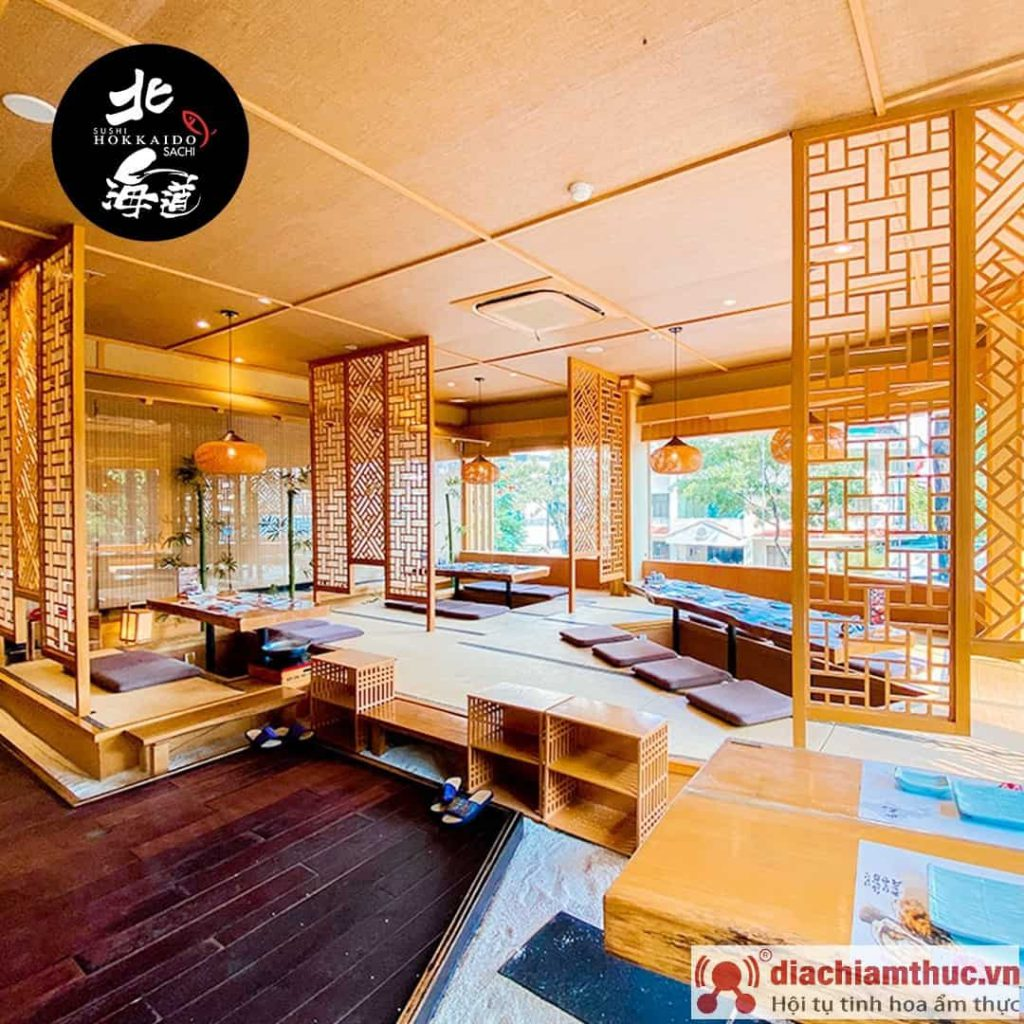 không gian quán hokkaido sushi sachi