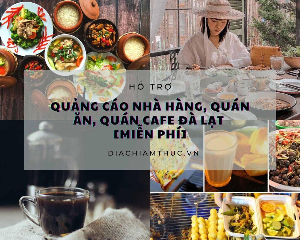 quảng cáo nhà hàng, quán ăn, quán cafe Đà Lạt