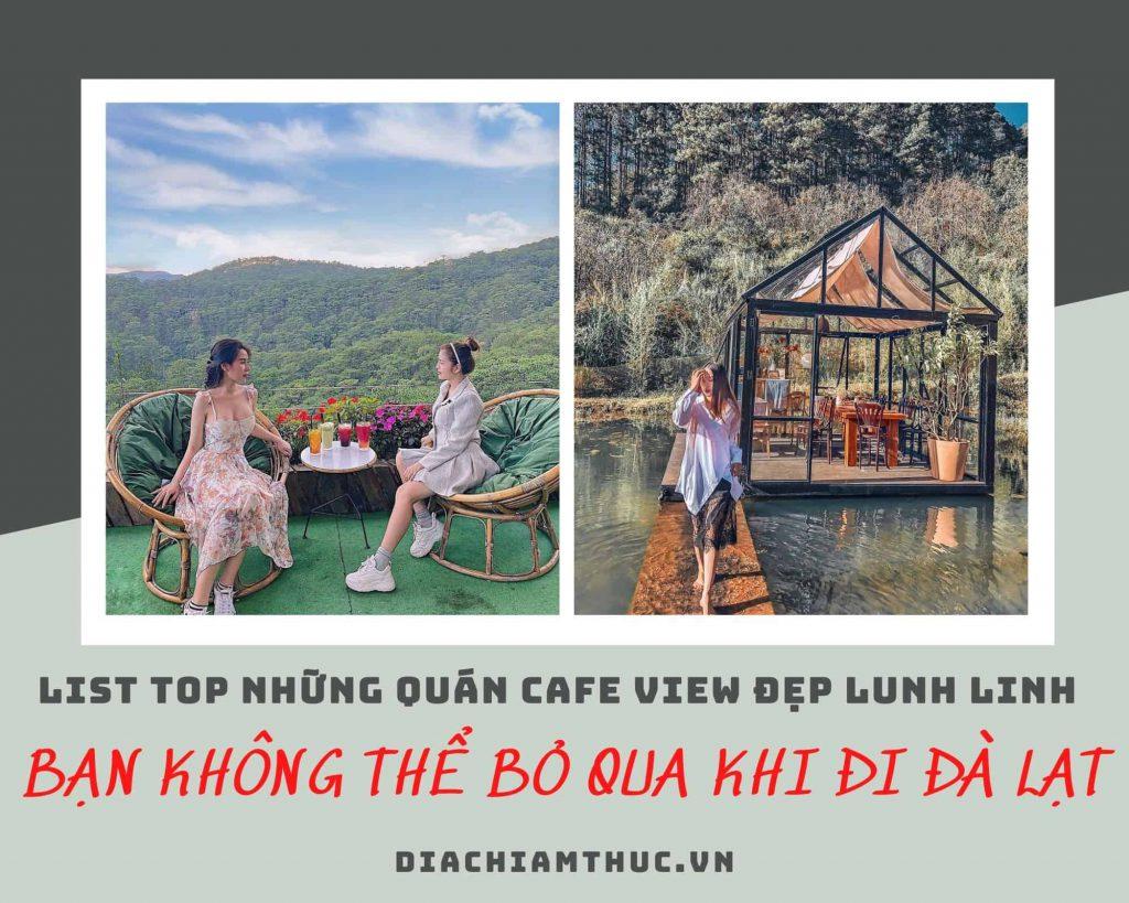 Top những quán cafe ở Đà Lạt