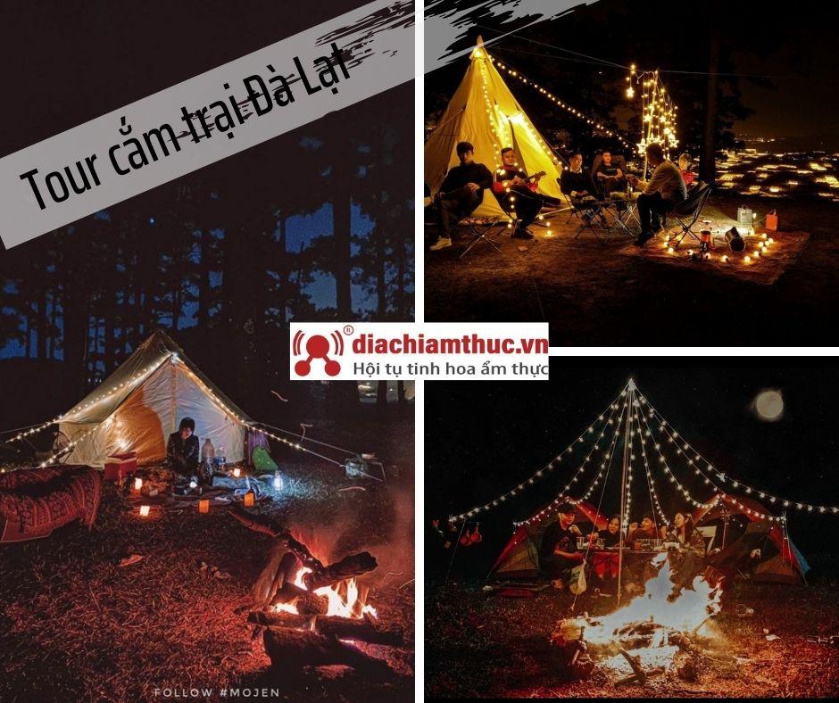 Tour cắm trại qua đêm ở Đà Lạt