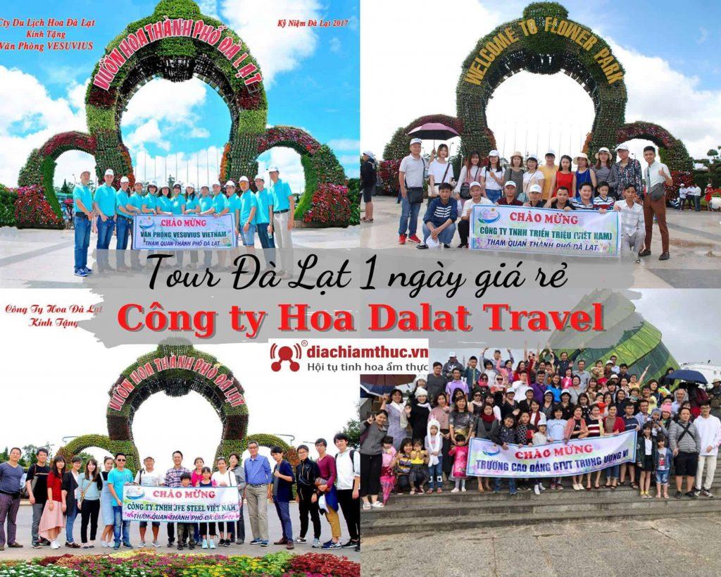 Tour Đà Lạt 1 ngày giá rẻ công ty Hoa Dalat Travel