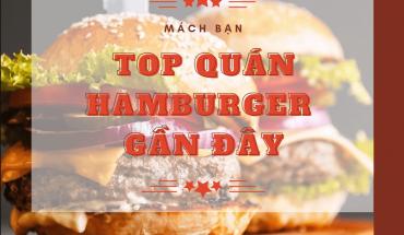Quán hamburger gần đây