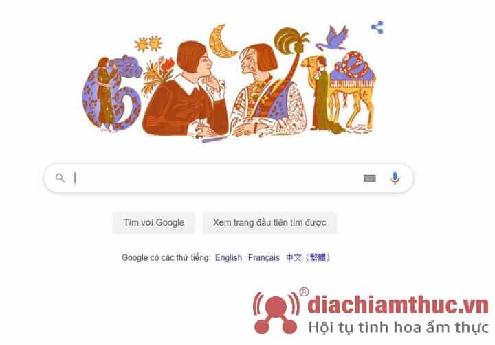 Khoảnh khắc Else Lasker-Schüler được google doodle vinh danh