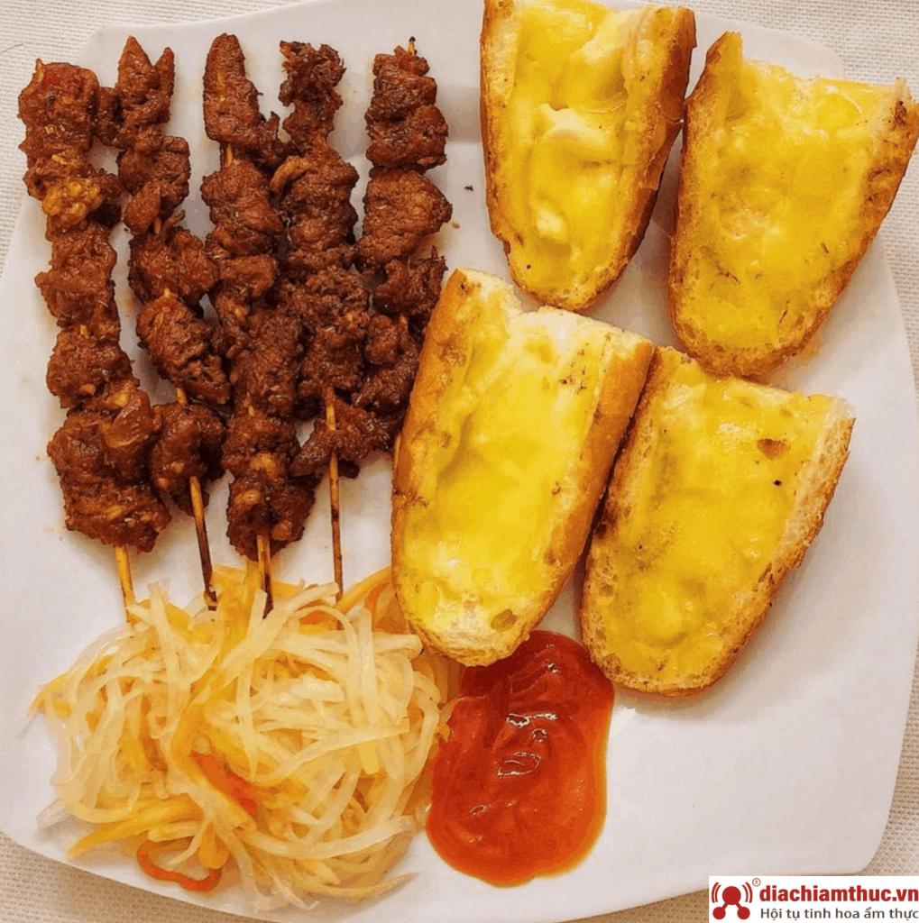 A Tùng Bánh Mì Bò Nướng Bơ Campuchia