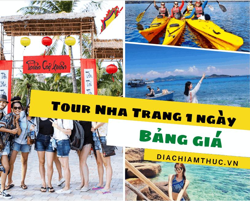 Bảng giá của các tour Nha Trang 1 ngày