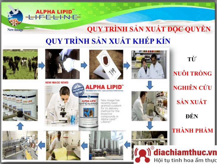 Các bước trong quy trình sản xuất sữa non Alpha Lipid Lifeline
