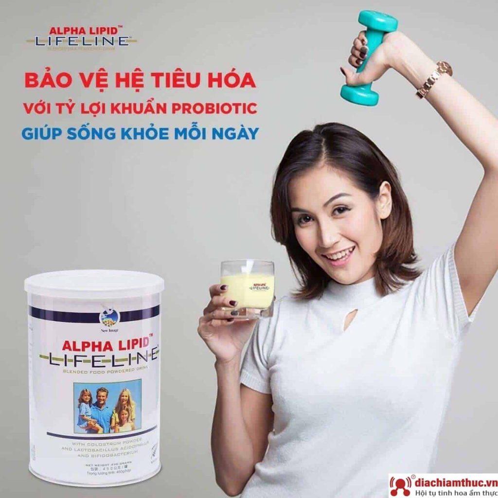 Cách pha sữa non Alpha Lipid Lifeline