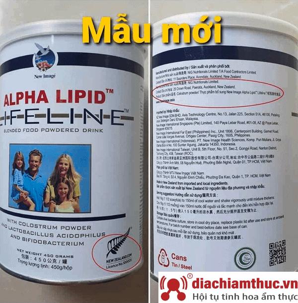 Phân biệt sữa non alpha lipid