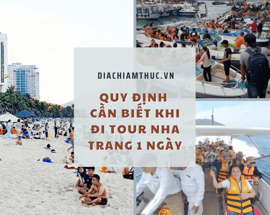 Quy định cần biết khi đi Tour Nha Trang 1 ngày