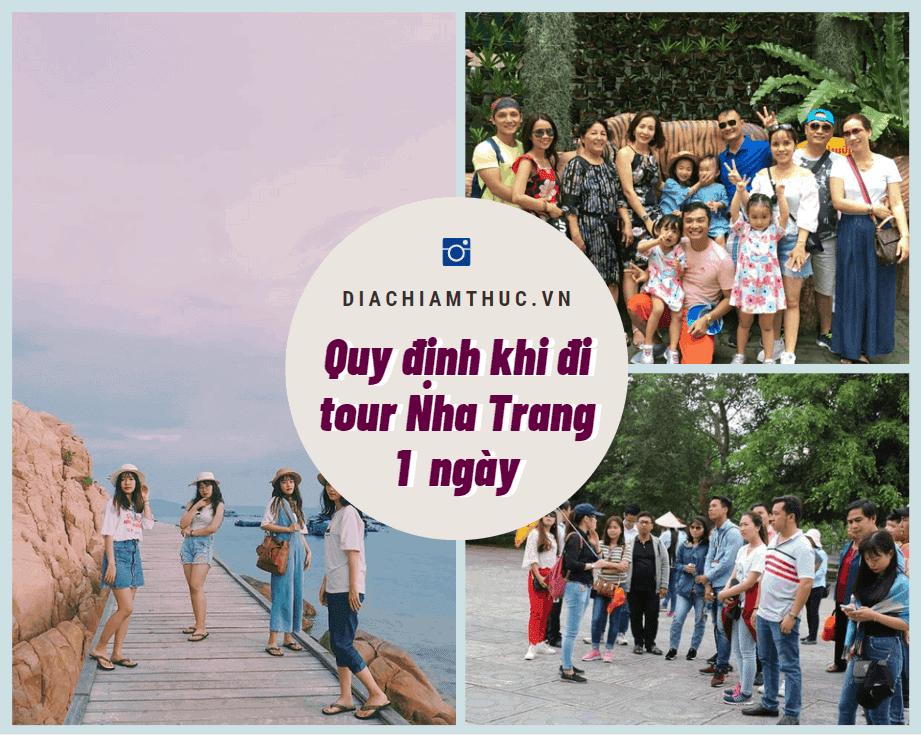 Quy định khi đi Tour Nha Trang 1 ngày
