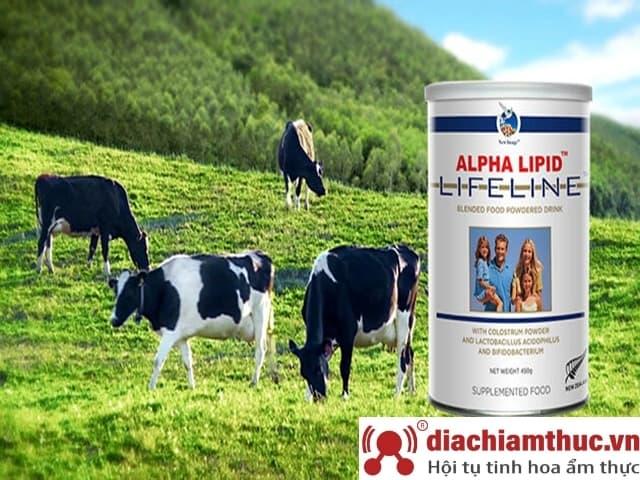 Sữa non Alpha Lipid Lifeline - Xuất xứ