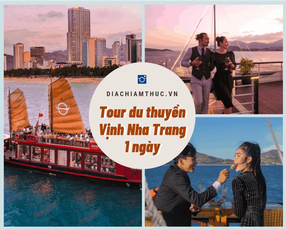 Tour du thuyền Vịnh Nha Trang 1 ngày