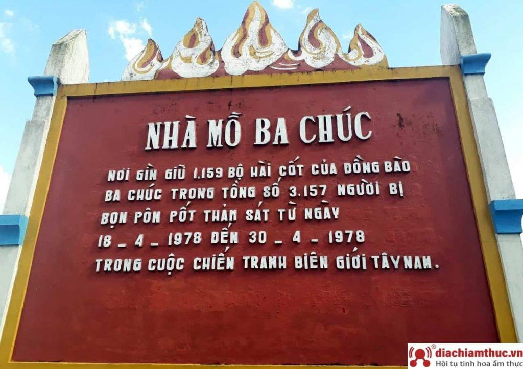Nhà mồ Ba Chúc - Trí Tôn