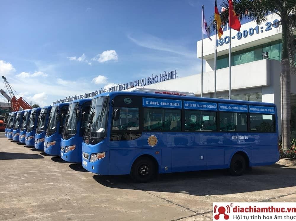 Xe bus đến Thác Giang Điền