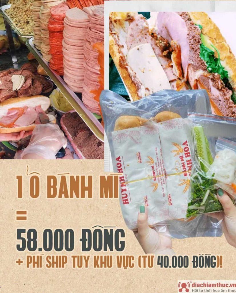 Giá bánh mì Huỳnh Hoa
